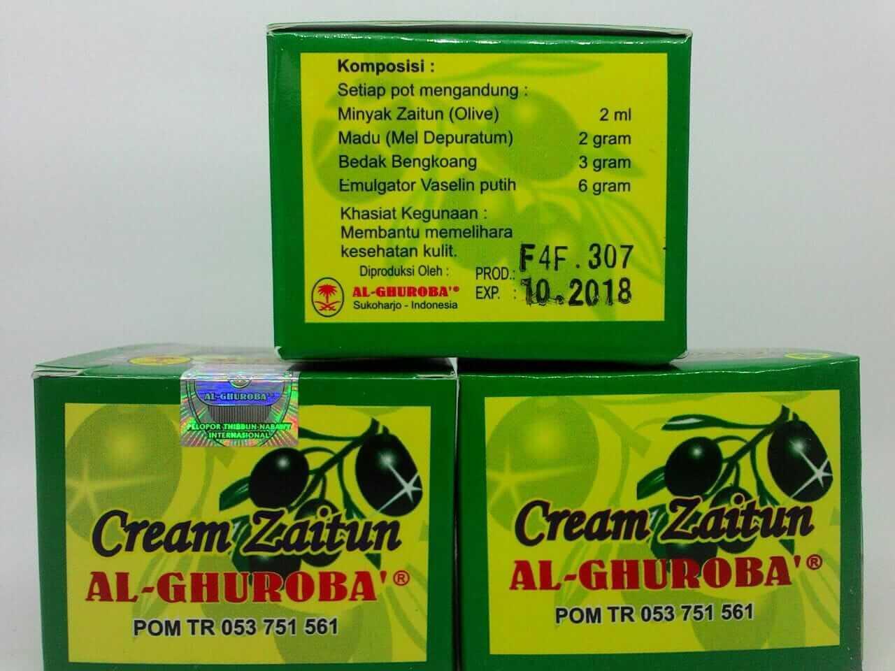 Cream Zaitun Alghuroba Pencerah Wajah - Paket 2 Pcs
