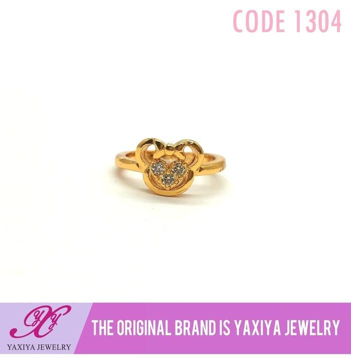Cincin Anak Permata Perhiasan Imitasi Gold 18K  Jewelry 1304