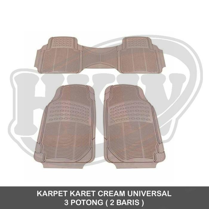Karpet Karet Cream 3 Potong mobil Sienta
