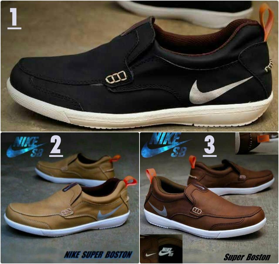 Promo Sepatu Bagus Nike Slop Boston Sepatu Santai Pria Ori Vietnam Diskon