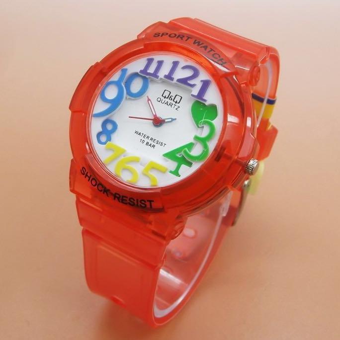 Jam Tangan Qnq Kw Model Sherina Merah Jam Tangan Wanita Sporty - Timewatch