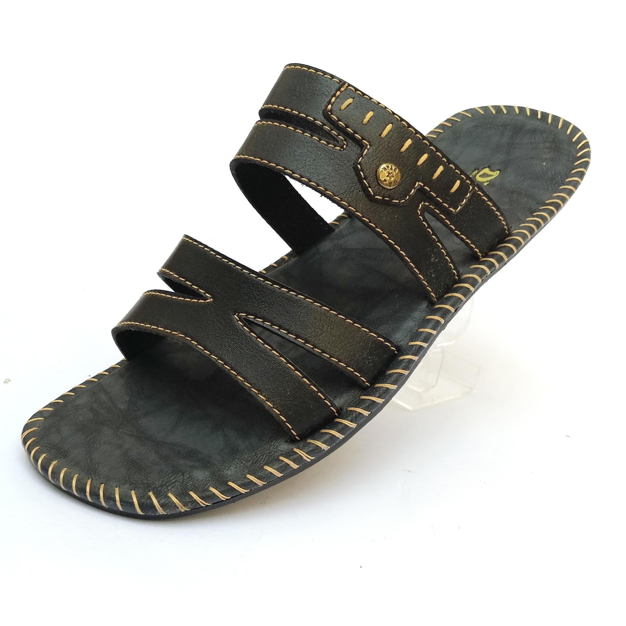 Toko Indonesia Perbandingan Harga Sepatu Pria 19 06 18 Finotti Kross Sandal Black White Kulit Casual Dewasa Murah Promo Ht