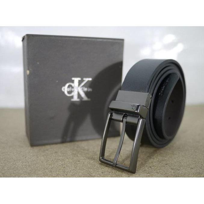 Ikat Pinggang Kulit Calvin Klein - Ck Jr11 / Gesper Kulit Pria Branded - Djfpwjg