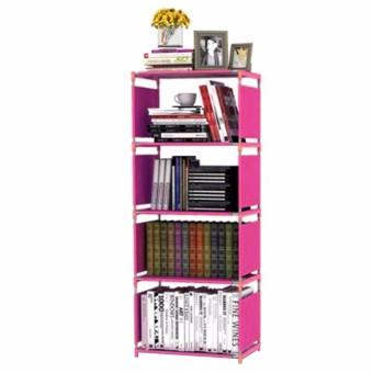 Rak Buku Portable SINGLE / Lemari Serbaguna 4 Susun 50.5x 30.5 x144 CM