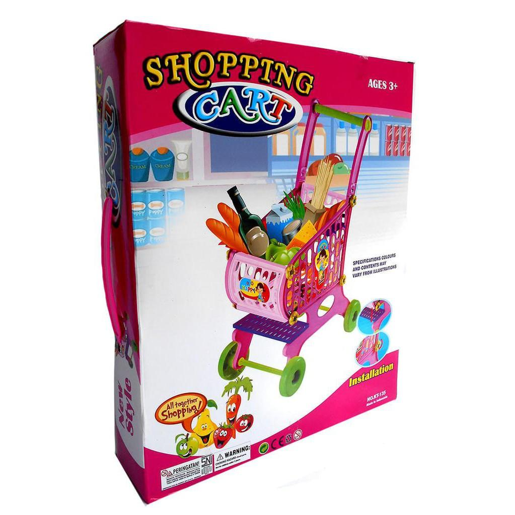 BEST SELLER!!! Shopping Cart Trolley - Kado Mainan Anak Keranjang Belanja Troly