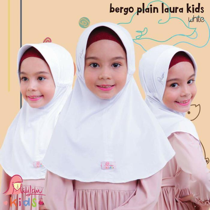 MiuLan Bergo Hijab Jilbab Kerudung Anak Praktis Adem Polos PLAIN LAURA
