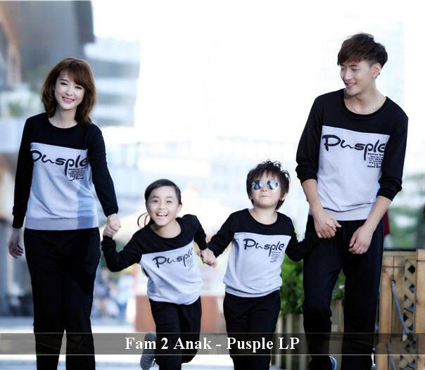 FamilyCouple Kaos Keluarga Simple Baju Family Terkini 2 Anak Lp Pusple