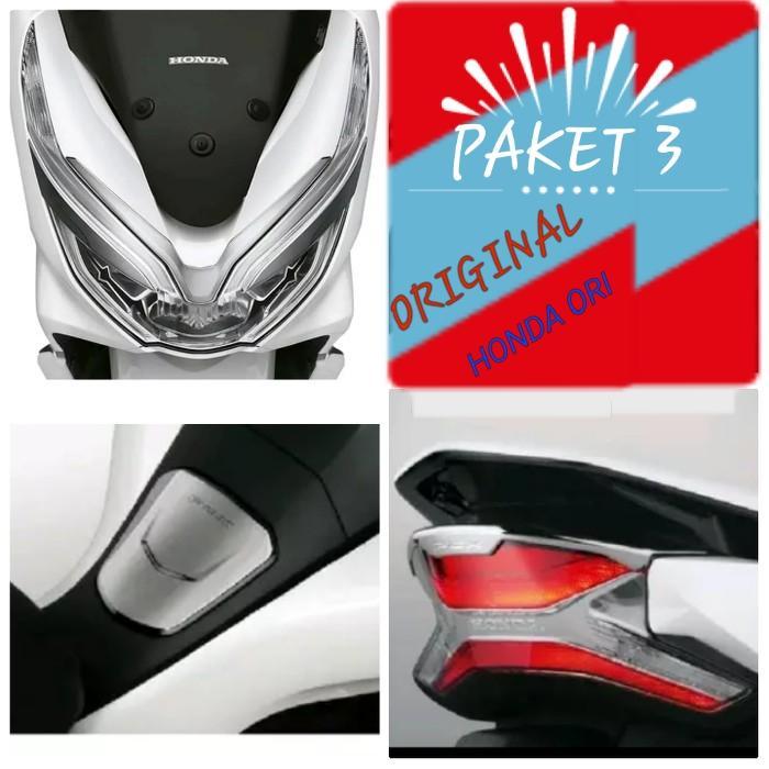 AKSESORIS NEW PCX 150 2018 PAKET 3 ITEM ORIGINAL AHM
