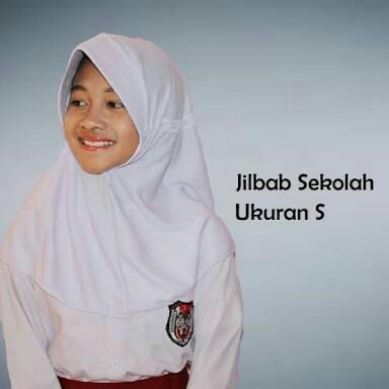 Jilbab instant anak sekolah ukuran S