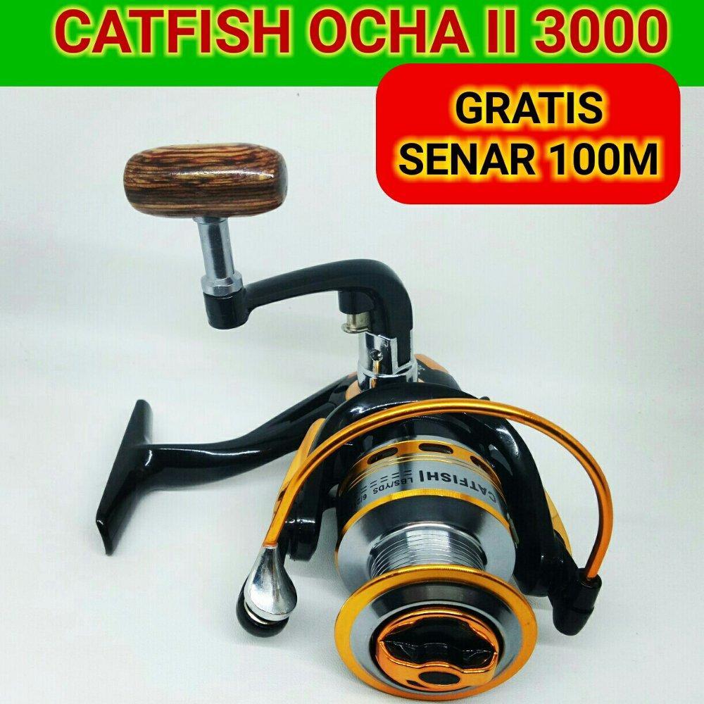 REEL CATFISH OCHA II 3000 10BB BLACK SILVER - FREE SENAR - REEL PANCING 3000 SERIES di lapak Andree Fishing or BFG andree_alivio