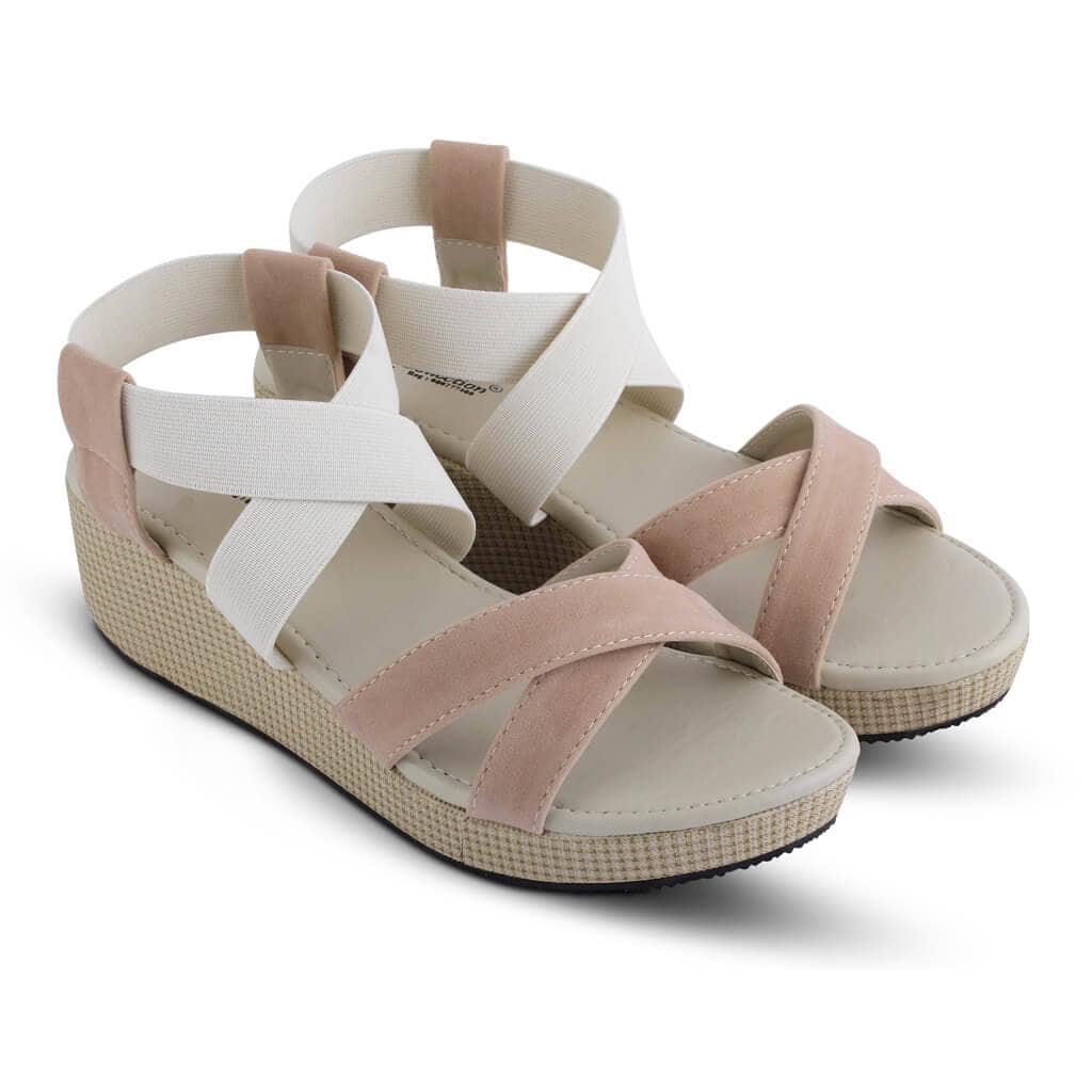 Sandal Casual Wanita  coklat tan R4indoz RUT 008 murah ori original