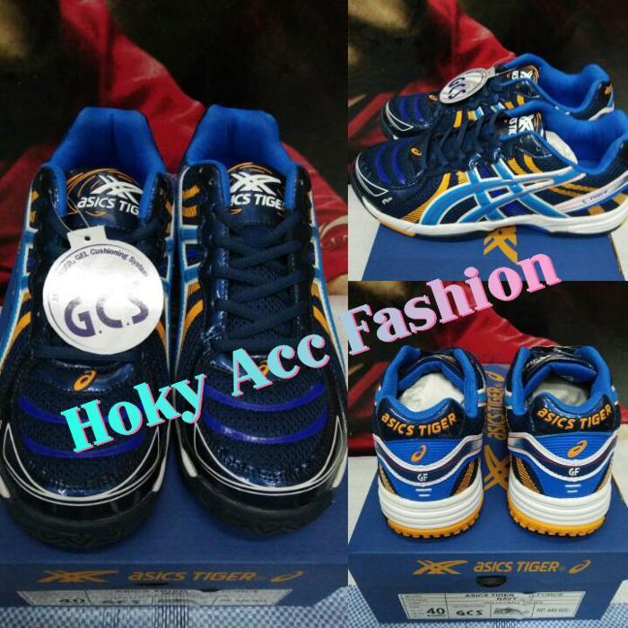 Sepatu Volley / Voli Asics Tiger G-Force Navy/Blue - Original - 2bsqGx