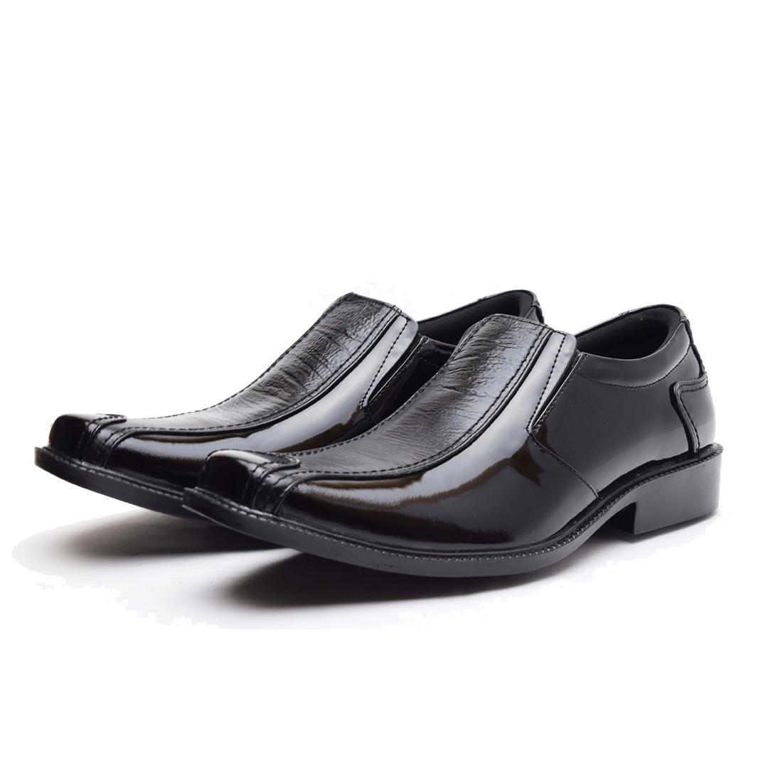Promo Sepatu Pantofel Pria - PREMIUM Wetan Gianyar - HARGA PROMO - Hitam, 38 Diskon