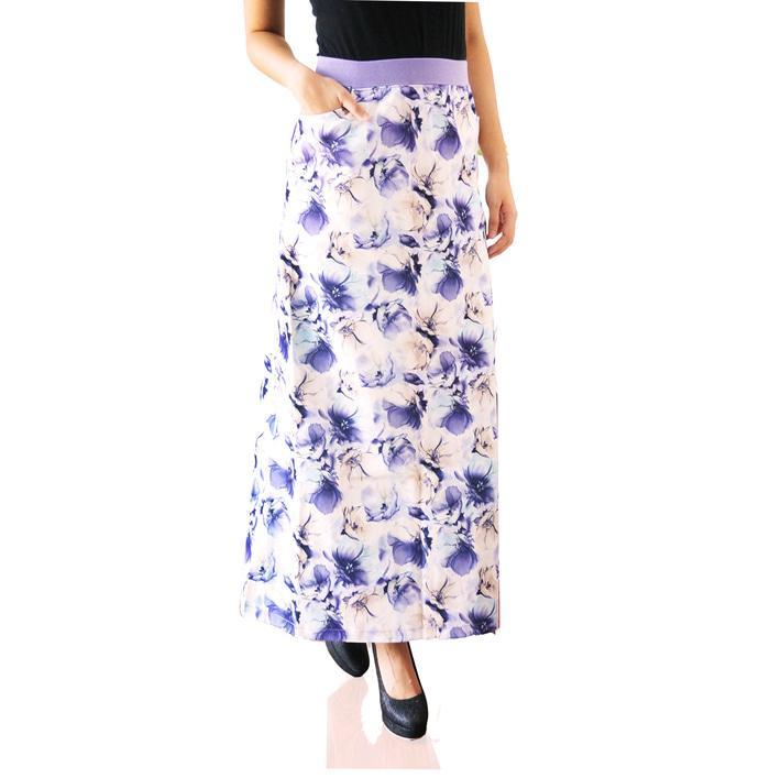 Rok panjang zazzy / rok skinny motif bunga bahan berkualitas bagus
