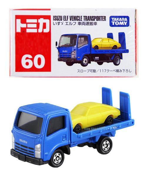 TERMURAH Mainan Anak Tomica 60 Isuzu Elf Vehicle Transporter - biru Mainan Mobil Die-Cast
