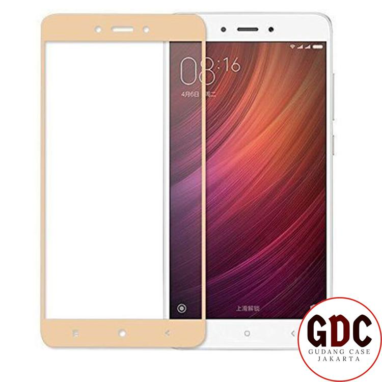 Accessories Hp Full Cover Tempered Glass Warna Screen Protector for Oppo A35 - Gold