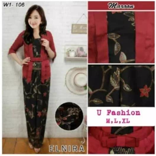 setelan kebaya modern elnira   baju batik wanita   kebaya tradisional    kebaya kutu baru   4de4523939