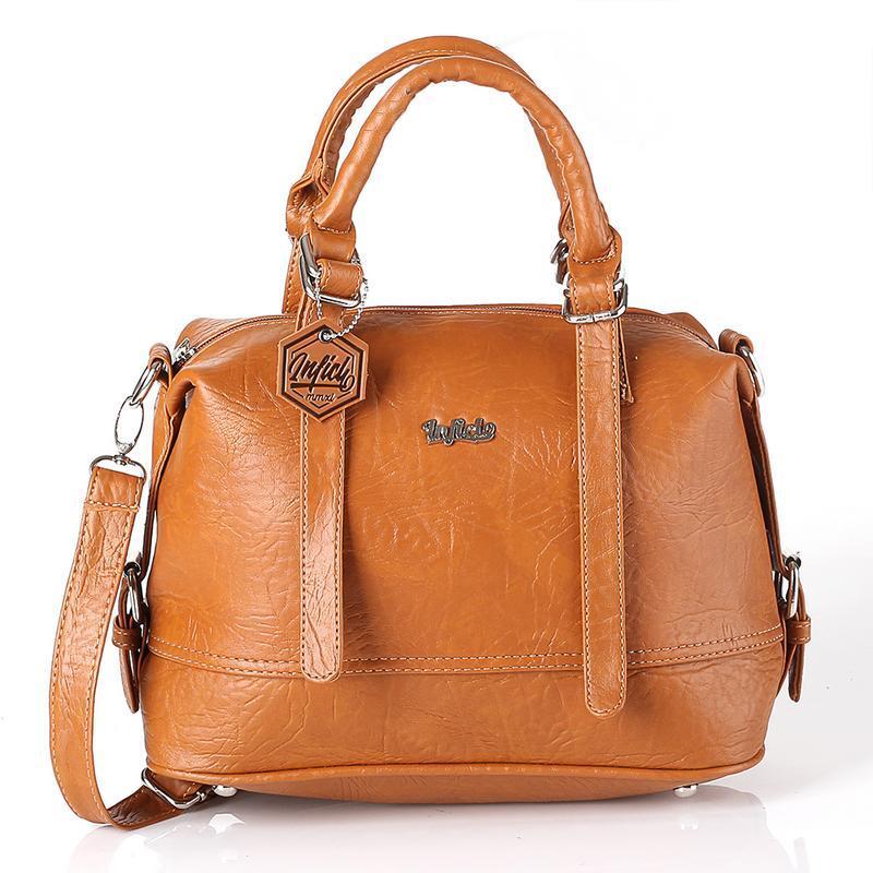 Inficlo SRI 697 Tas Wanita Handbag - bahan lotus - 28x25x15 - Murah & berkualitas (coklat)