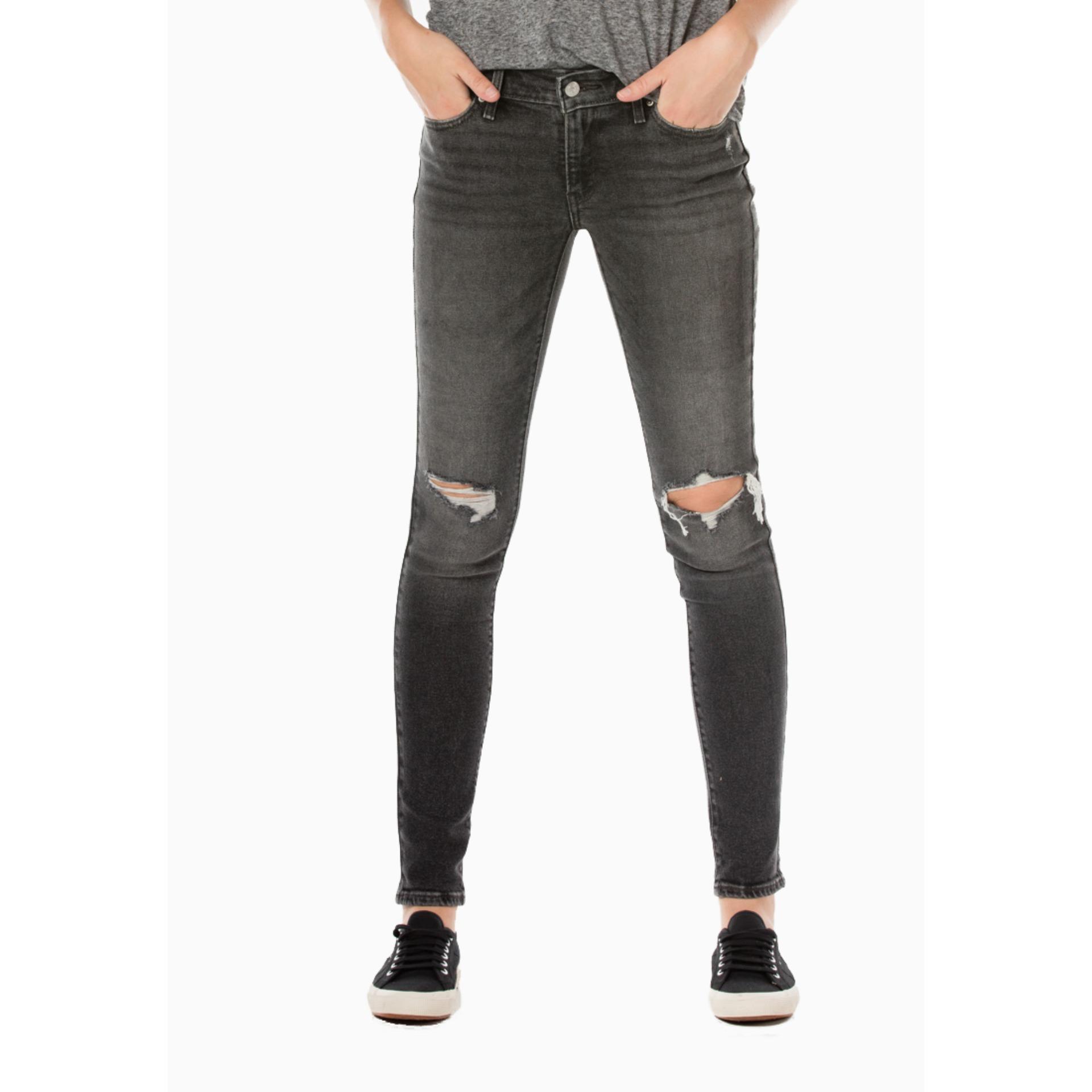 Levi's 711 Skinny Jeans - Bandit Black LVSRAYA10