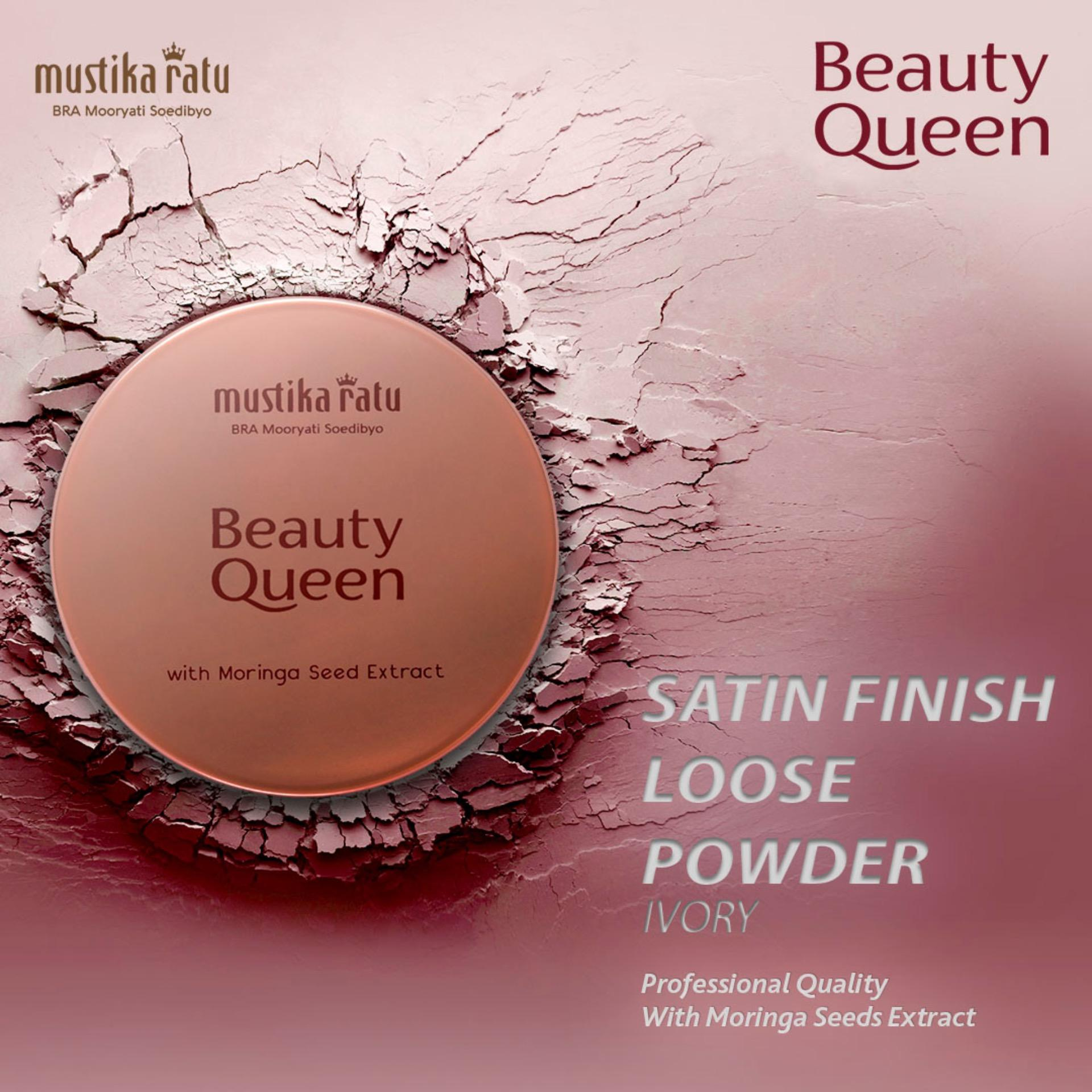 Mustika Ratu Kosmetik Wajah 2 Warna Satin Finish Loose Powder Antioksidan Vitamin E - Ivory