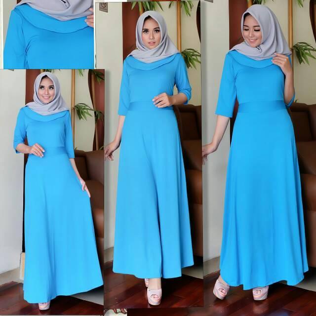 Baju Gamis Muslimah Murah - Pakaian Maxi - Baju Muslim - Ada Variasi Warna Silakan Pilih