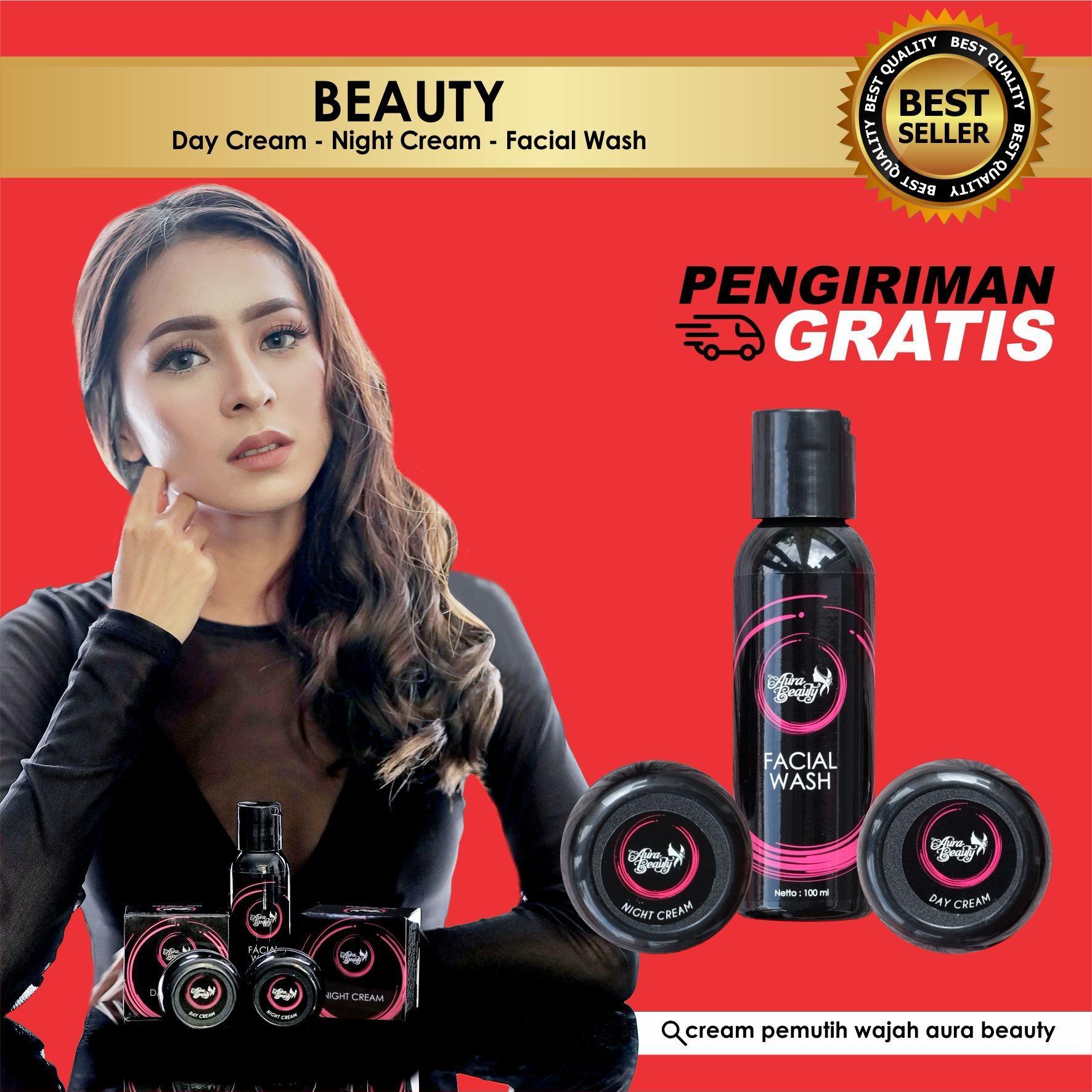 AURABEAUTY PACKAGE Non Serum - Cream Pemutih Wajah Aura Beauty Untuk Pria / Wanita AMAN 100% Original LAZADA