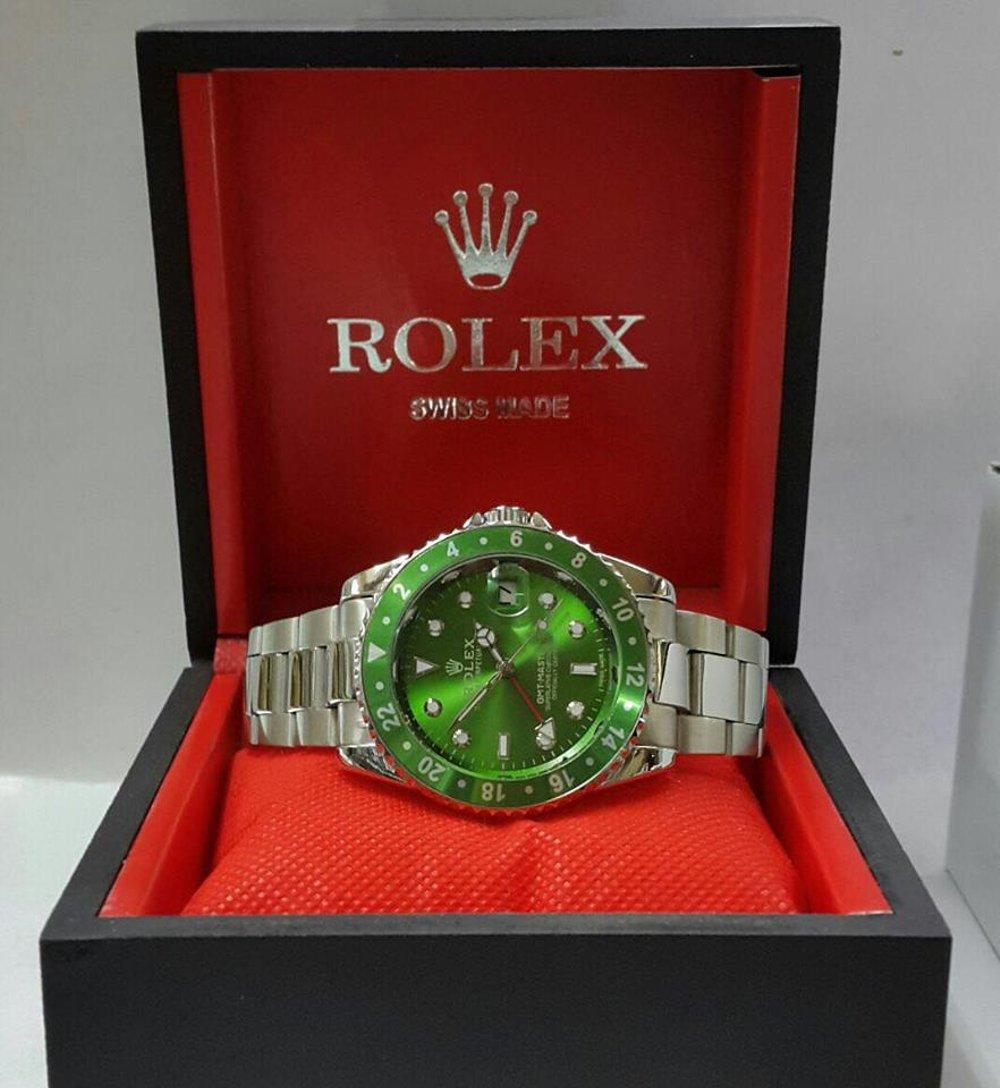 Jam Tangan Rolex GMT Master II Silver Dial Green