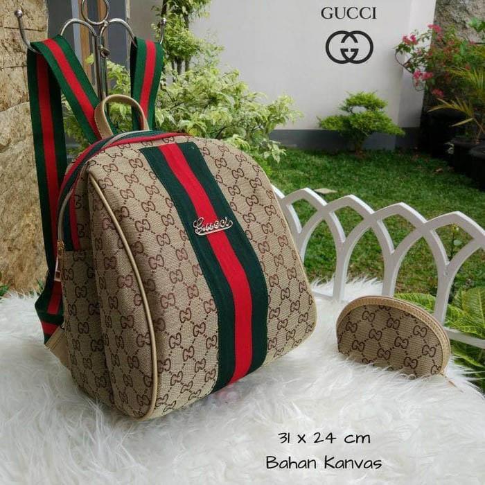 Tas Wanita Ransel Gucci Keren Lagi Hits Hotlist Kanvas Backpack