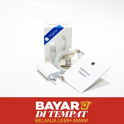 Charger For iPhone 5 / 6 / 6+ / 7 Batok Charger With Kabel Data Kualitas Original ORI - Bisa Untuk iPhone 4 4s / iPhone 5 5c 5s / iPhone 6 / iPhone 6s / iPhone 6+ 6s+ / iPhone 7 7+ / iPhone 8 / iPhone X