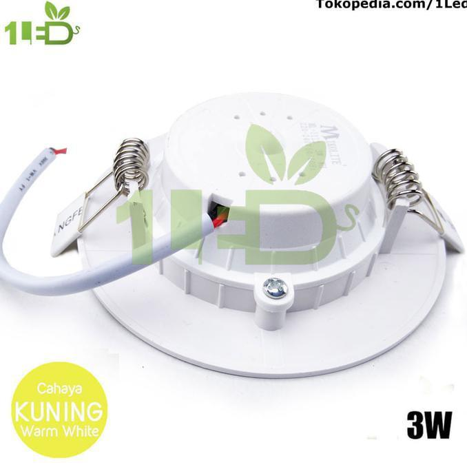 Lampu Downlight LED 3W Kuning 3 W Watt 3Watt