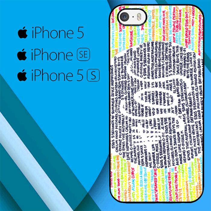 5 Second of Summer Logo O3432 iPhone 5|5S|SE Case