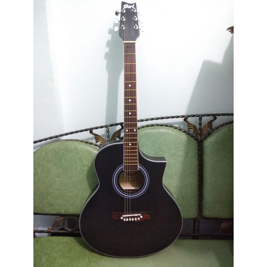 Rp 475000 Gitar Akustik Elektrik Cort Blackdoff TRUSROD Equalizer Murah JakartaIDR475000