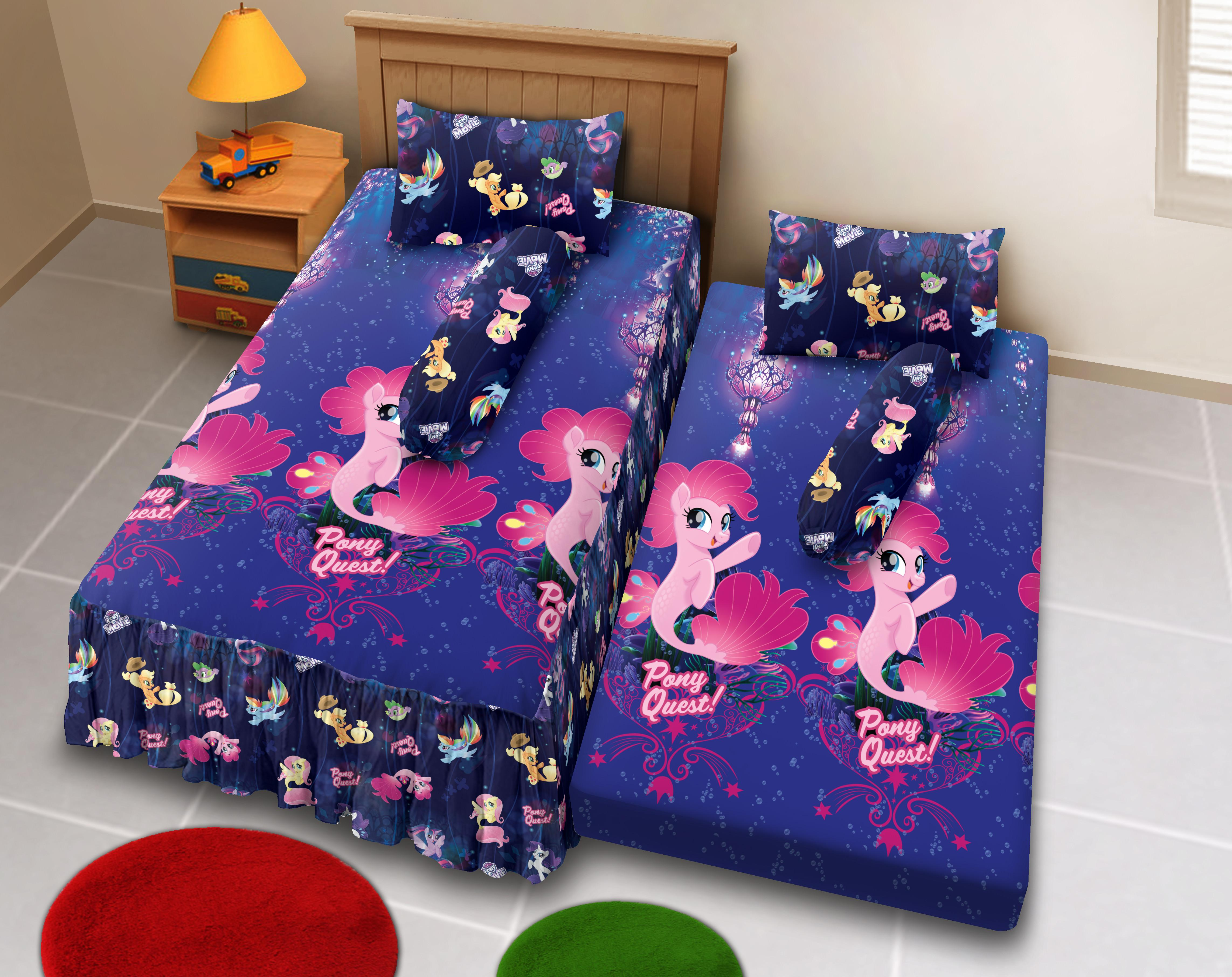 Kintakun D'luxe Sprei 2in1 - 120 x 200 (Single) - Little Pony The Movie