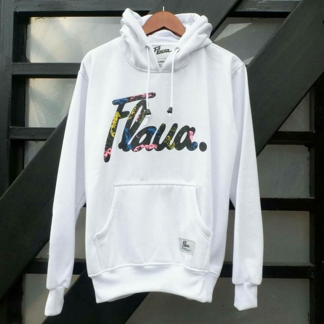 Cek Harga Baru Valencia Jaket Hoodie Flava Original Black Thunder Sweater Ori Pria Dan Wanita Jumper Putih Allsize M To L