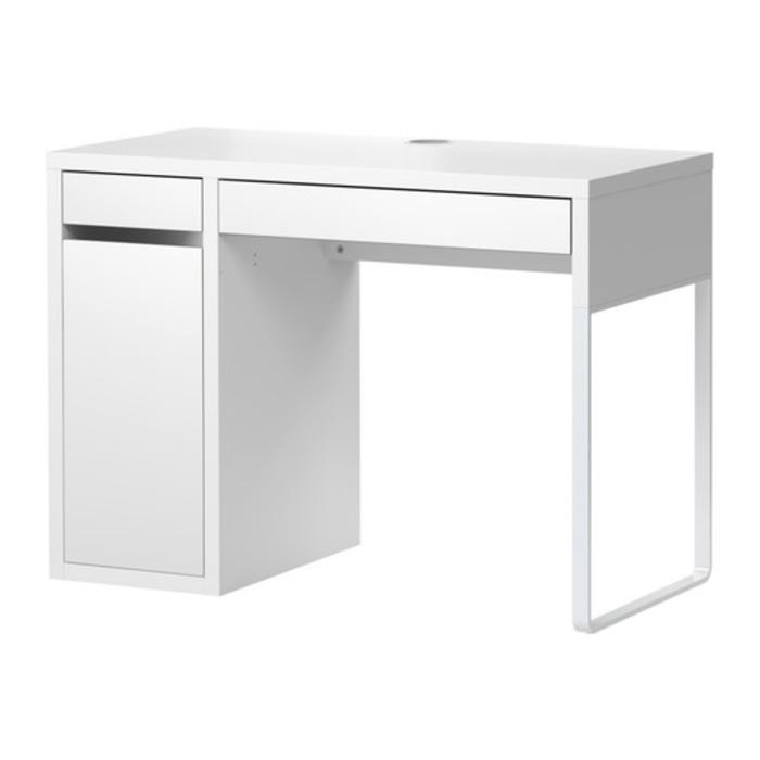 IKEA MICKE Meja Komputer  Kerja Belajar 105x50 cm, putih
