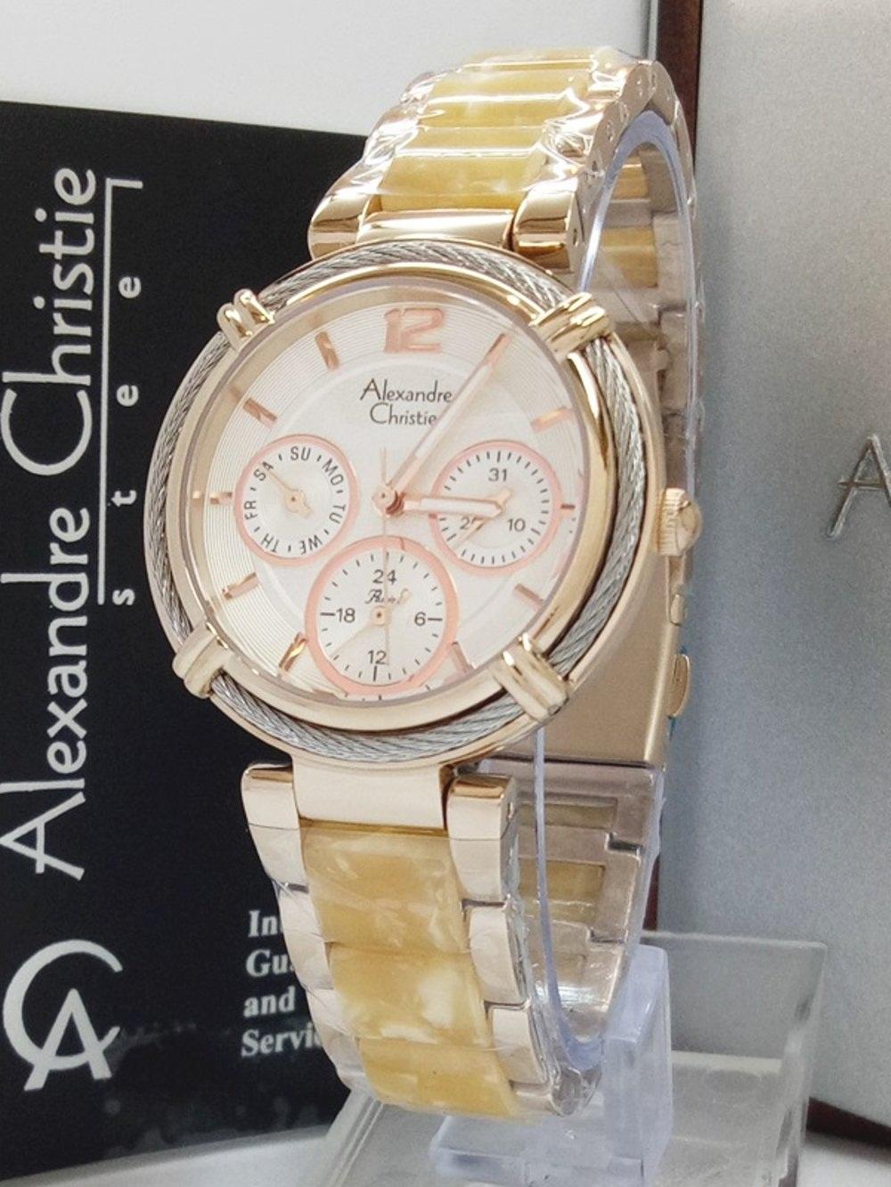 Features Alexandre Christie Ac2655 Jam Tangan Wanita Stainless Pria 6324 Silver Hitam Original Ceramic Rosegold Merah 4