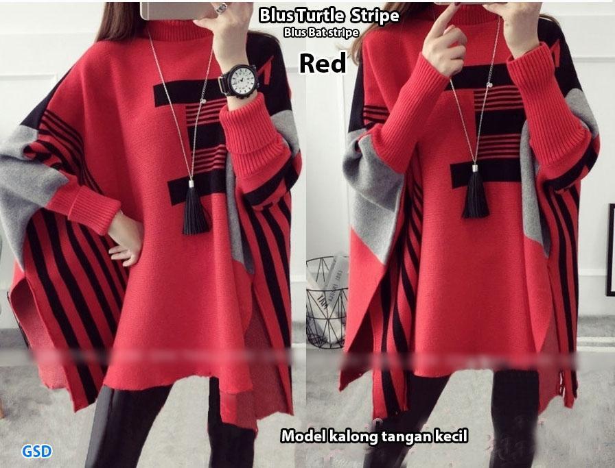 NCR-Baju Wanita/ Baju Atasan Wanita/ Blus Wanita/ Blus Turtle/ Blus Bat Stripe