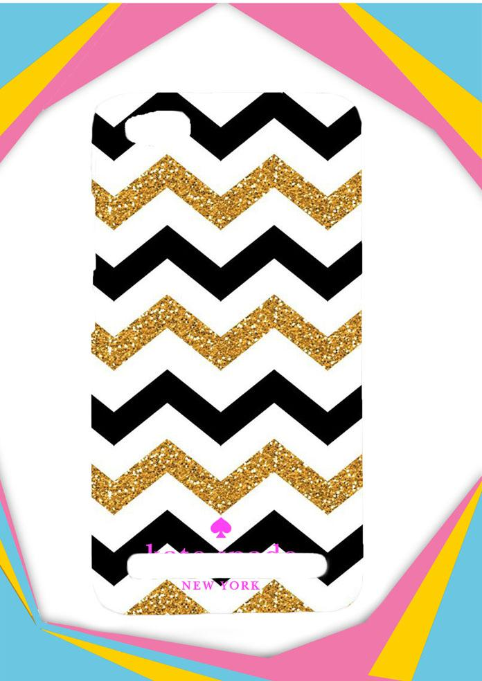 Casing Xiaomi Redmi 5A Custom Hardcase chevron gold logo kate spade Z4902 Case Cover