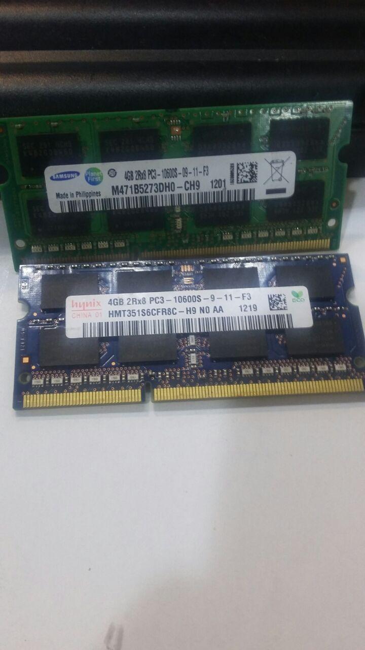 Ram Sodimm 4GB DDR3 PC3-10600s Murah Bergaransi