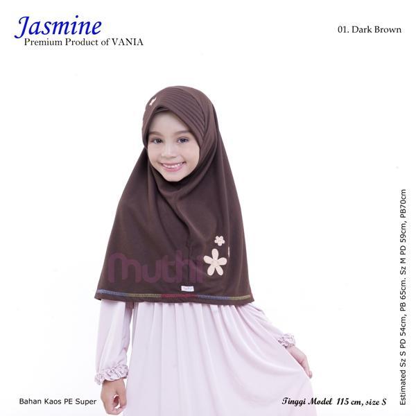 Jilbab Vania Anak Jasmine size M (8-13th) Termurah