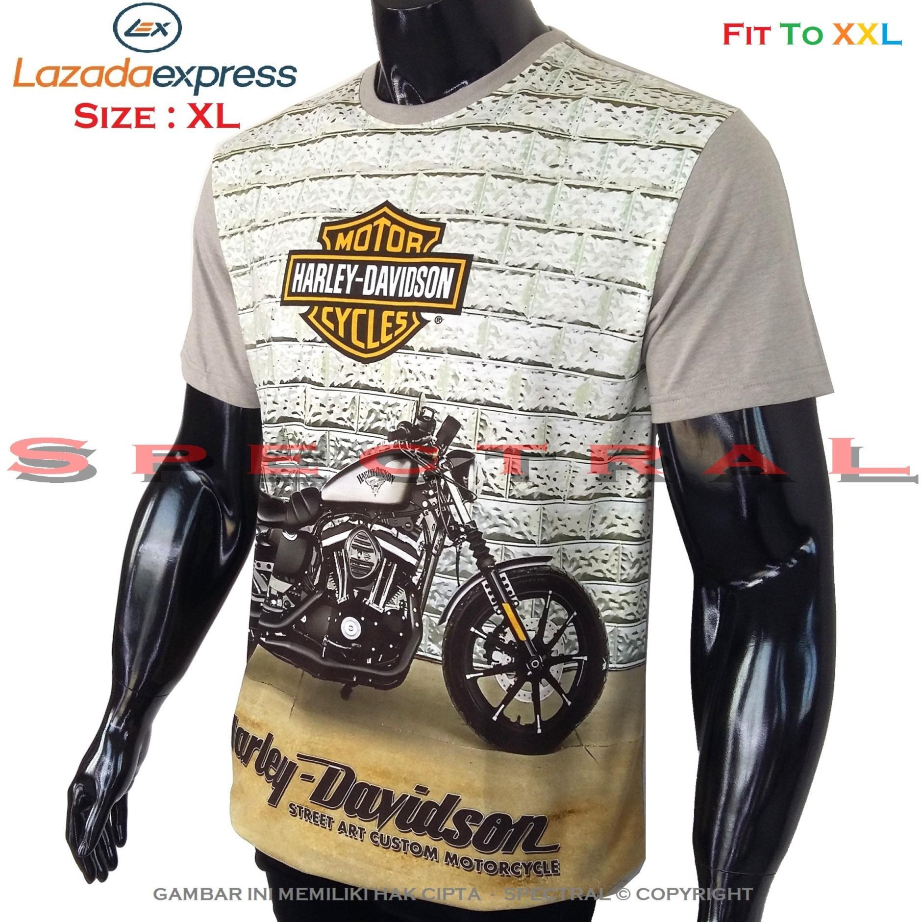Spectral – 3D Harley Davidson Kualitas HD Printing Size XL Fit To XXL Soft Rayon Viscose Kaos Distro Fashion T-Shirt Atasan Oblong Baju Pakaian Polos Pria Wanita Cewe Cowo Lengan Murah Bagus Keren Jaman Kekinian Jakarta Bandung Gambar Mobil Motor Otomotif