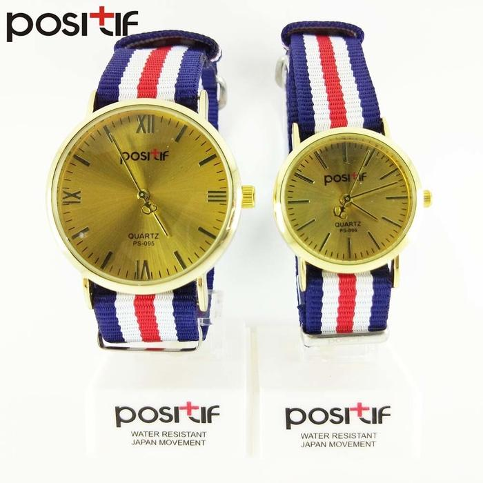 Jam Tangan Couple Merk POSITIF Cartagena PS-095/ Mini PS-096 Original