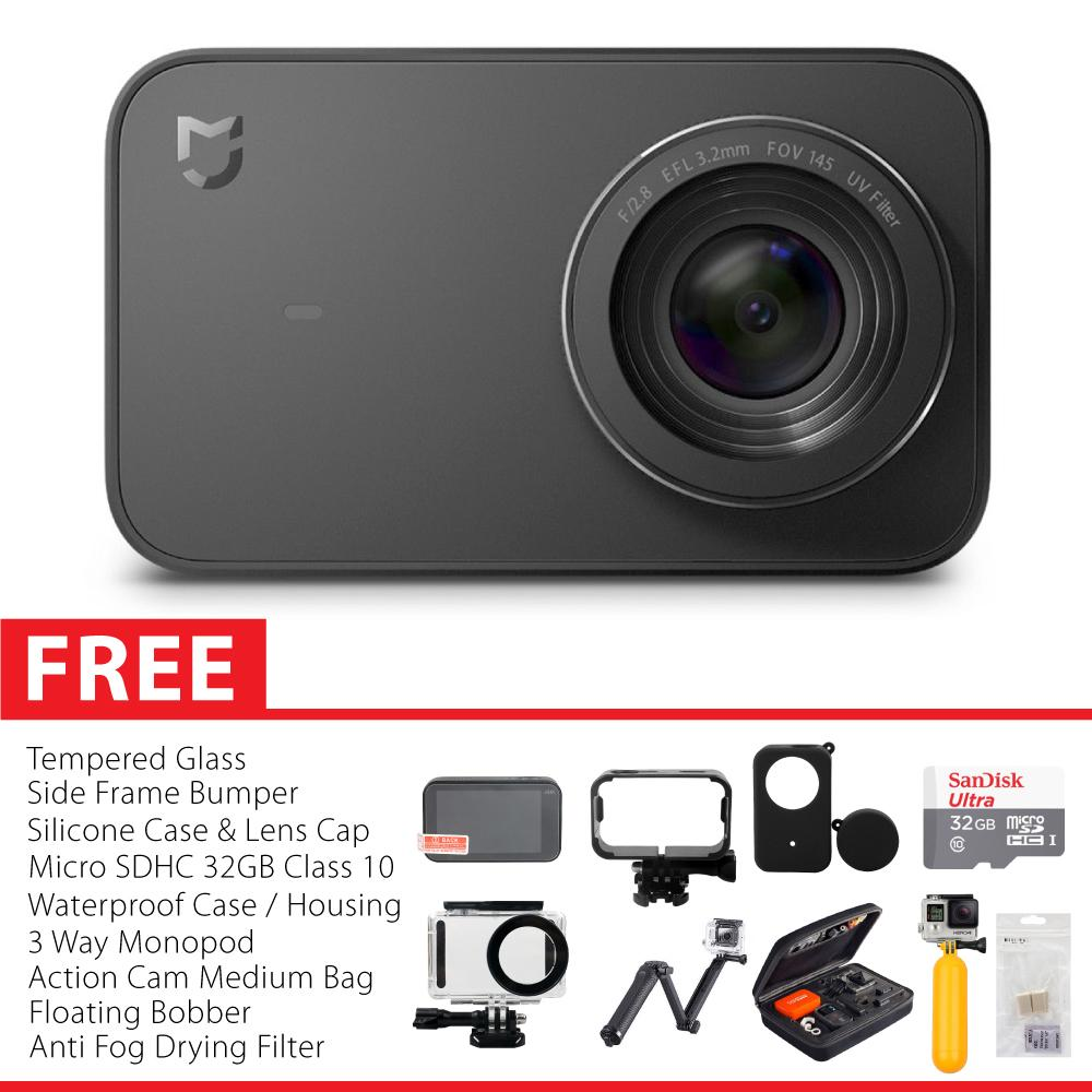 Xiaomi Mijia Action Camera 4K 30FPS International Version Paket Complete Garansi 1 Tahun