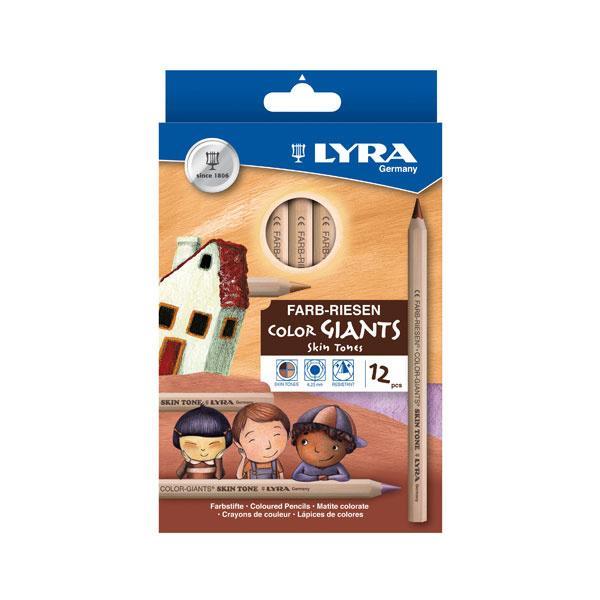 TERMURAH LYRA Color Giants Skin Tones 12 pcs Alat Seni Lukis