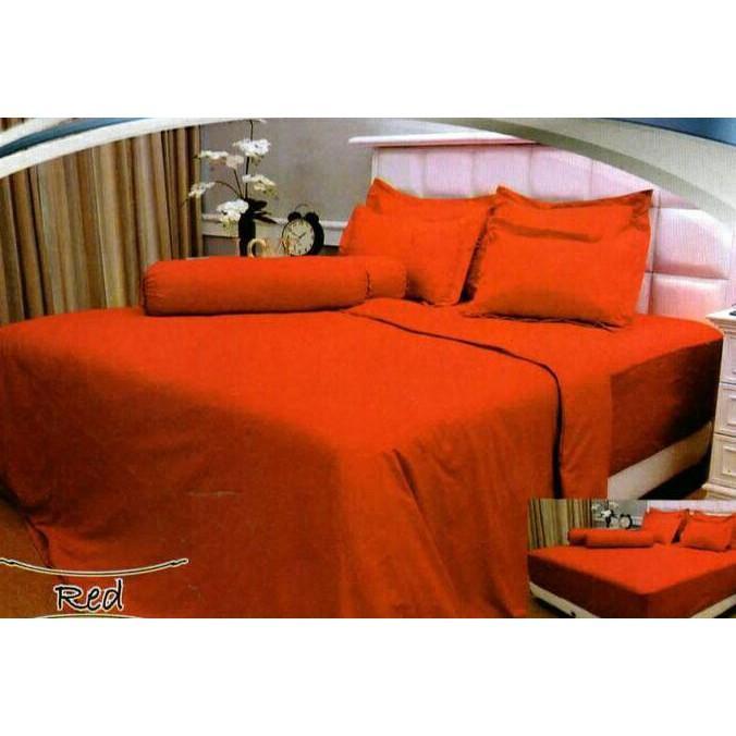 BEDCOVER VALLERY QUINCY RED 180X200 TINGGI 30CM FWANITA 001XOIX