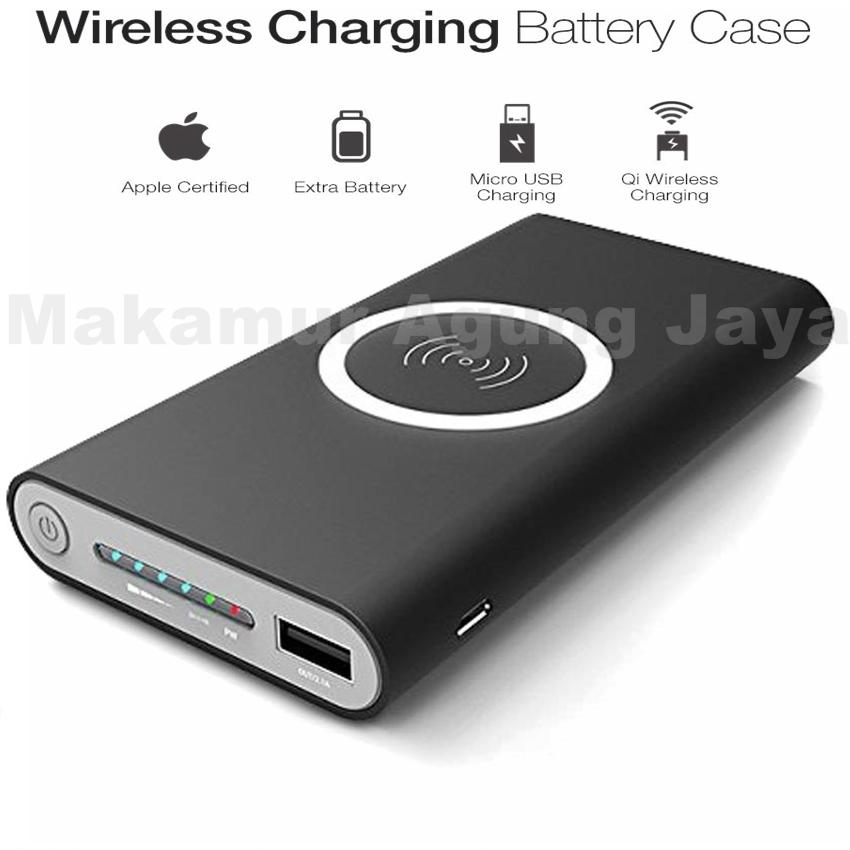 MAJ - Powerbank wireless series Q1 new pertama di indonesia 10000mAh Suporth for android - ios Compatible for Samsung galaxy note5 Samsung Galaxy: Note 8, S8, S8+, S7, S7 Edge, Note 5, S6, S6 Edge, Apple: iPhone X, iPhone 8, iPhone 8+
