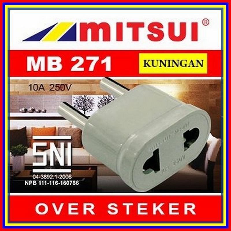 Mitsui Mb271 Stop Kontak Over Steker Sambungan Colokan Ori - 5 .
