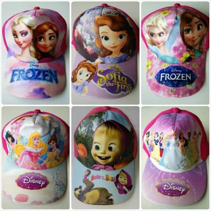 Topi Anak Karakter Frozen Sofia Masha Cinderella Aurora Terlaris di Lazada