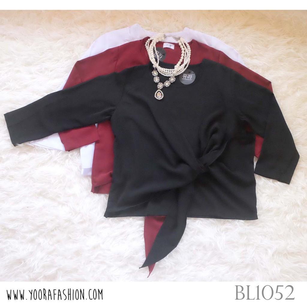 Jual Floral Collar Tied Top Harga Rp 78000 Sabrina Sleeve Blouse Atasan Wanita Bl885 Louisa Louis Bl1052