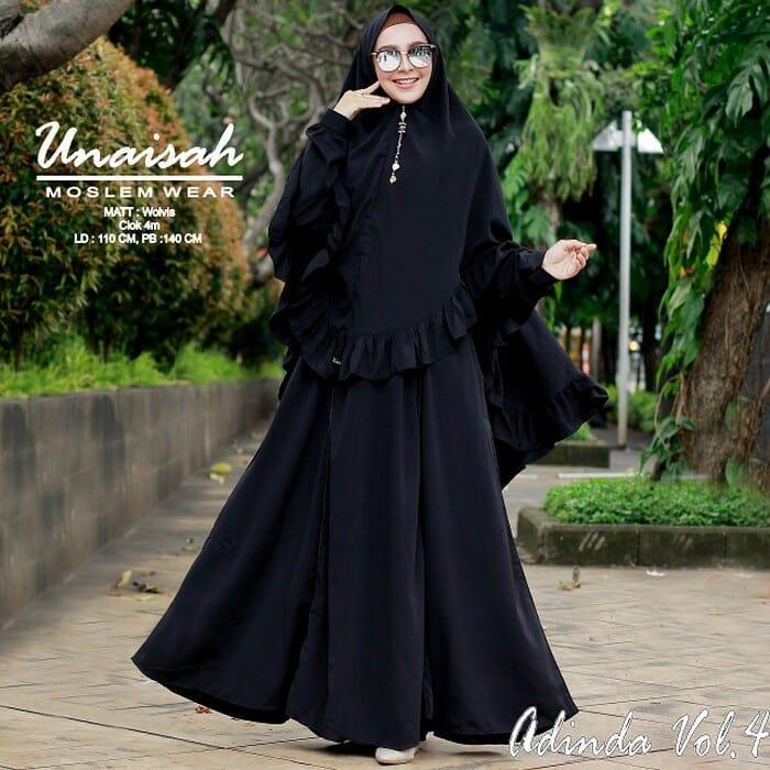 Baju Original BC ADINDA SYAR'I Maxi Dress Muslim Modern Panjang Hijab Fashion Wanita Gamis Termurah 2018